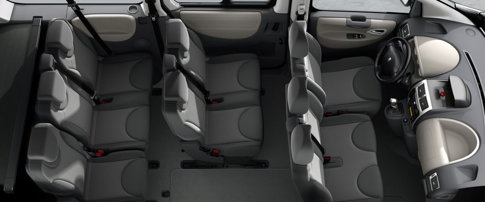 Up to 8 seats of passengers